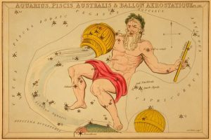 Aquarius, Piscis Australis and Ballon Aerostatique, 1825
