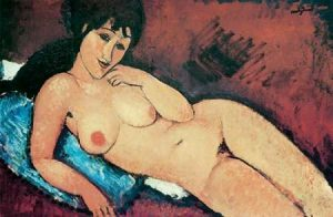 Reclining Nude Raised On Right Arm