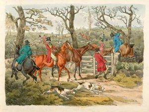 Sportsmen Within An Enclosure, 1817