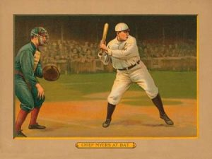 Chief Myers at Bat, Baseball Card, 1911