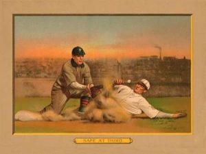 Safe at Third, Baseball Card
