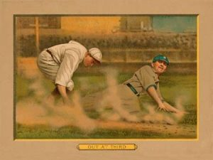Out at Third, Baseball Card