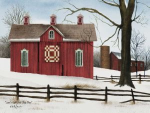 Lovers Knot Quilt Block Barn