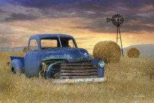 Old Chevy with Windmill