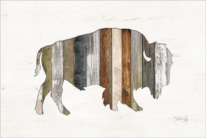 Wood Slat Bison