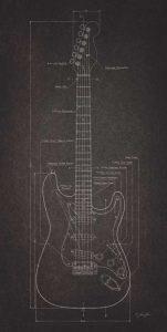 Electric Guitar Blueprint