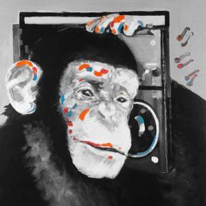 Monkey Listening to Radio
