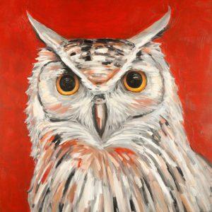 Colorful Eagle Owl