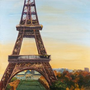 Eiffel Tower by Dawn Oil Painting Paint