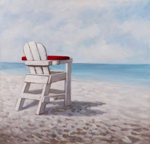 White Beach Chair