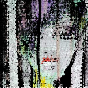 Abstract Colorful Woman Face