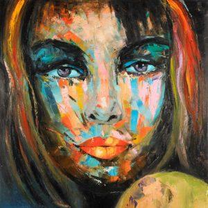 Colorful Woman Portrait