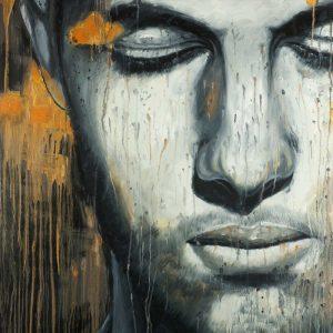 Abstract Man Face