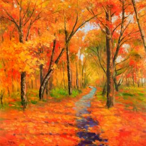 Autumn Trail in the Forest