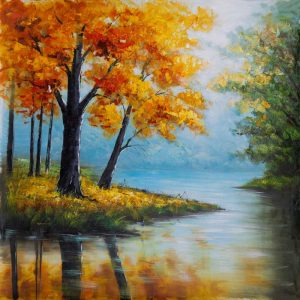 Fall Trees at the Waters Edge