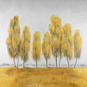 Seven Yellow Trees Abstract