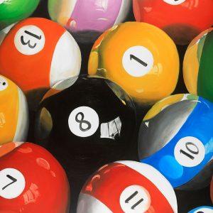 Pool Balls Closeup