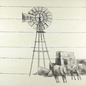 Vintage Old Texas Windmill