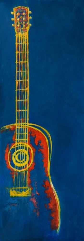 Modern Blue Abstract Guitar