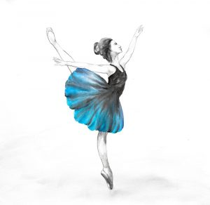 Small Blue Ballerina