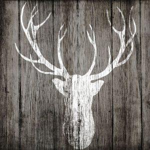 Sophisticated Deer on Wood