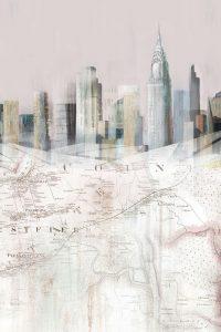 Blushing Manhattan Map II