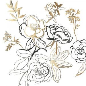 Black and Gold Florals