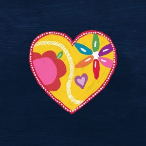 Navy Painted Heart
