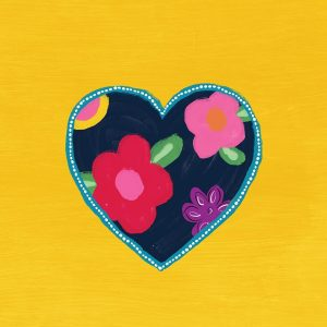 Yellow Painted Heart