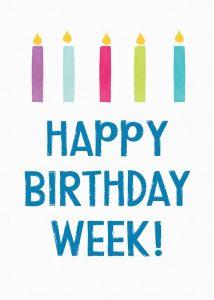 Birthday Week Candles