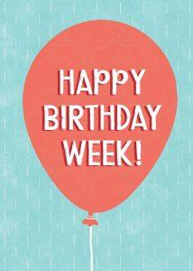 Birthday Week Balloon