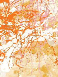 Pink and Orange Abstract II