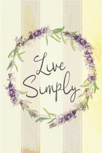 Live Simply Lavender
