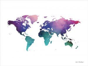 Cosmos Watercolor World