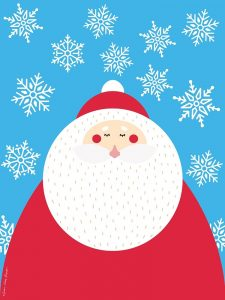 Snowflake Santa Claus
