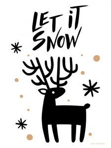 Let It Snow Reindeer