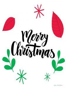Merry Christmas Greenery