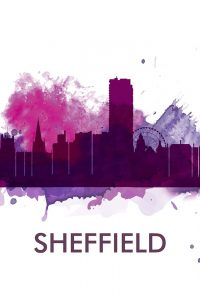 SHEFFIELD CITY COLOR SPLASH SILHOUETTE