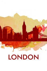 PAINT SPLASH SILHOUETTE OF LONDON