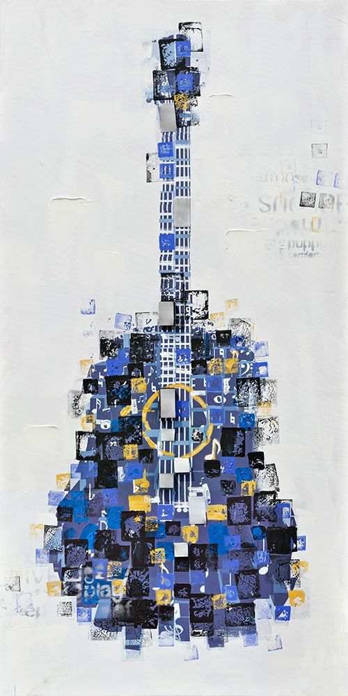 ABSTRACT GUITAR MADE OF SQUARES