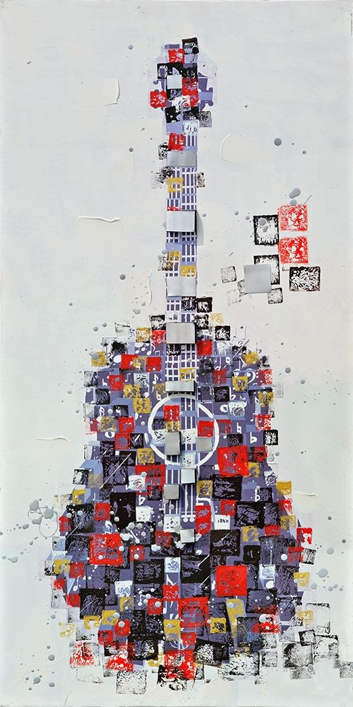 ABSTRACT GUITAR MADE OF SHAPES