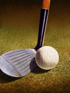 CLOSEUP OF A GOLF CLUB