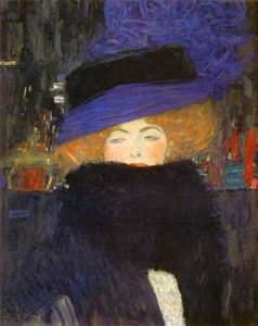 Lady With Hat And Featherboa 1909