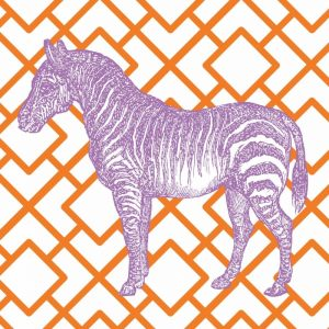 Bright Menagerie Zebra