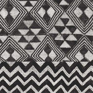 Kuba Cloth Mat II Crop BW
