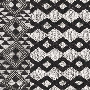 Kuba Cloth Mat I Crop BW