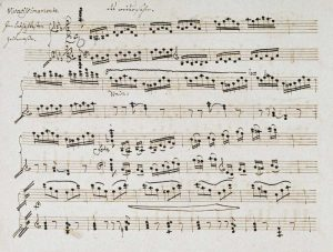 Manuscript of The Second and Third Movements, Piano Sonata In E Flat