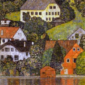 Houses In Unterach On Lake Atter 1916