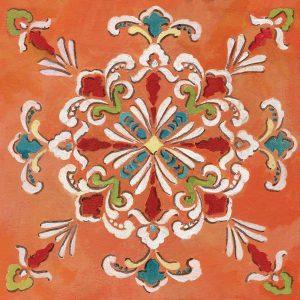 Orange Bandana Mosaic