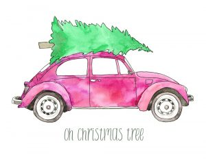 Pink Car, Oh Christmas Tree
